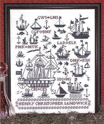 Sailing Ships Sampler Cross Stitch | S-1012 | Rosewood Manor