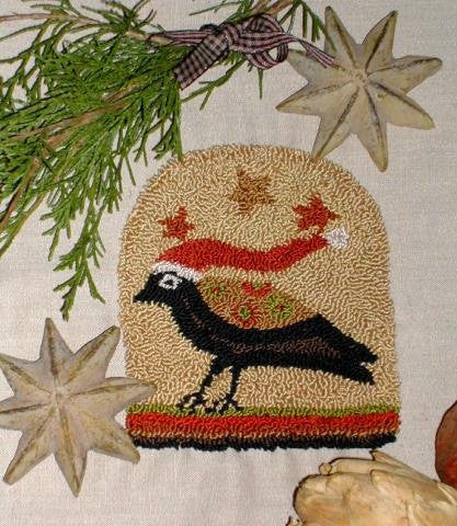 Santa CAWS | Punch Needle Pattern | Notforgotten Farm