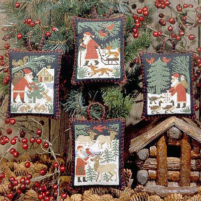 Santa & Friends | Book No. 110 | Cross Stitch | Prairie Schooler
