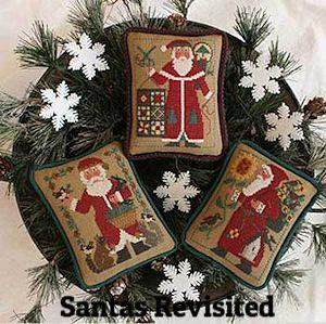 Santas Revisited | Cross Stitch | Prairie Schooler