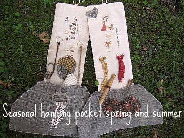 Seasonal Hanging Pockets | Spring & Summer | Cross Stitch | Niky's Creations