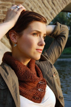 Shawl Collared Cowl Knitting Pattern | Never Not Knitting Press (NNK)