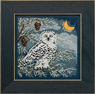 Snowy Owl Cross Stitch Kit | Mill Hill