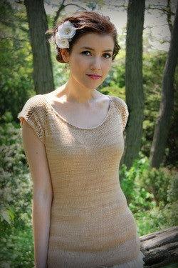Spring Garden Adult Tee Knitting Pattern | Never Not Knitting Press (NNK)
