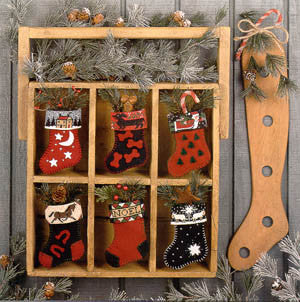 Stockings Reproduction Sampler Cross Stitch | Prairie Schooler