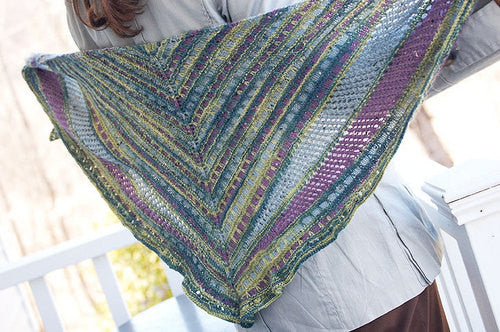 Taking Flight Shawlette Knitting Pattern Knit One Crochet Too