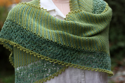 Taygete Shawl Knitting Pattern | Designs by Romi