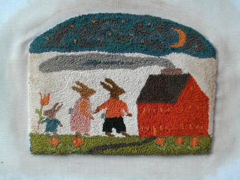 The Bunny Trail | Punch Needle Pattern | Notforgotten Farm