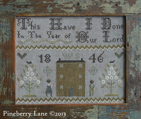 This Have I Done Primitive Sampler Cross Stitch | Pineberry Lane