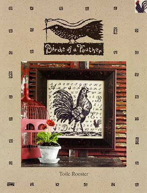 Toile Rooster Cross Stitch | Birds of a Feather