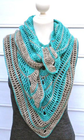 Tranquille Shawl Crochet Pattern | OneLoopShy Designs