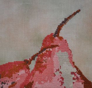 Twin Pears Cross Stitch | Nine Stones Needlework