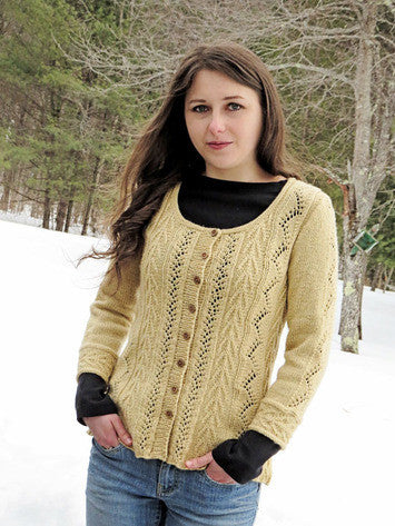 Vine & Arrows Cardigan Knitting Pattern | Knit One Crochet Too