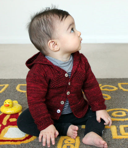 Wee Austin Hoodie Knitting Pattern | Connie Chang Chinchio