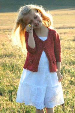 Wee Wildflower Children's Cardigan Knitting Pattern | Never Not Knitting Press (NNK)