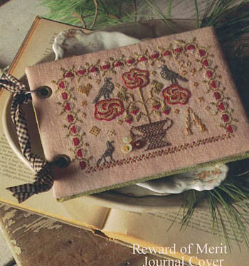 Wild Rose | Reward of Merit Journal Cover Series | Cross Stitch | Blackbird Designs