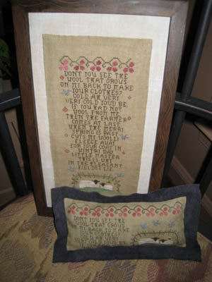 A Wooly Story Primitive Cross Stitch | Homespun Elegance