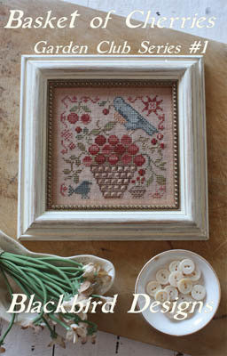 Basket of Cherries | Garden Club Series #1 | Cross Stitch | Blackbird Designs