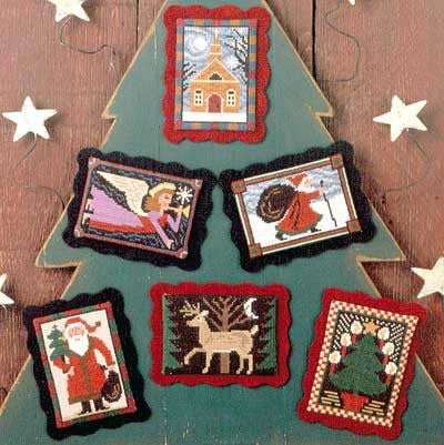 Folk Art Christmas | Book No. 124 | Cross Stitch | Prairie Schooler
