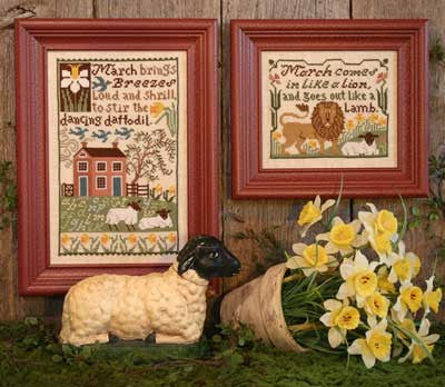 Daffodils | Book No. 146 | Cross Stitch | Prairie Schooler