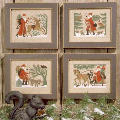 Woodland Santas  | Book No. 96 | Cross Stitch | Prairie Schooler