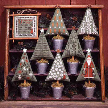 Christmas Trees | Book No. 82 | Cross Stitch | Prairie Schooler