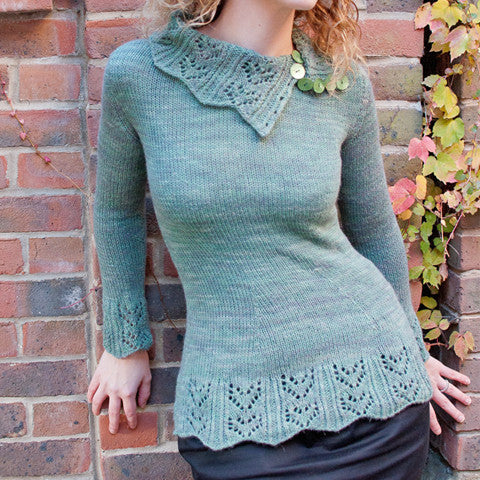 Echoes Of Winter Sweater Knitting Pattern | Rock and Purl