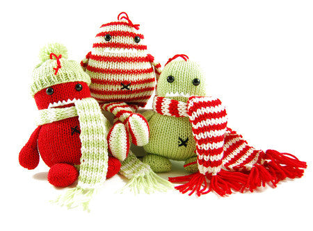 Holly, Ivy & Steve Three Holiday Hooligans Knitting Pattern | Danger Crafts