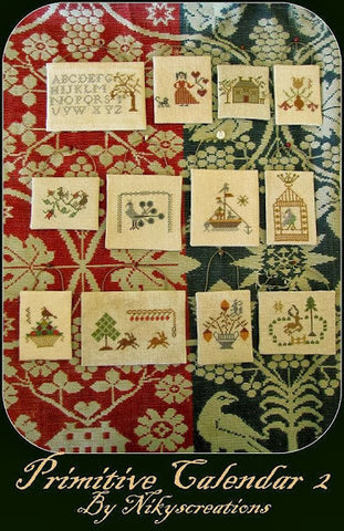 Primitive Calendar 2 Cross Stitch | Niky's Creations