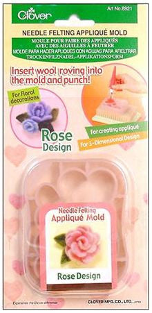 Rose Applique Mold for Needle Felting | Clover