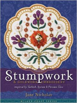 Stumpwork & Goldwork Embroidery Inspired by Turkish, Syrian & Persian Tiles | Jane Nicholas
