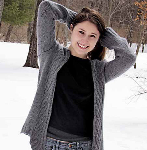 Swirl Rib Cardigan Knitting Pattern | Knit One Crochet Too