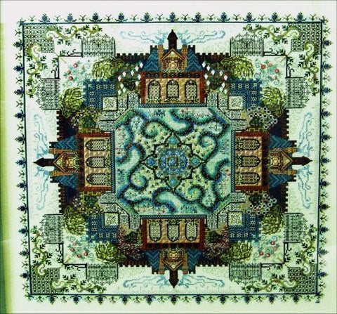 The Victorian Garden Mandala Sampler Reproduction Cross Stitch | CHAT 068 | Chatelaine Designs