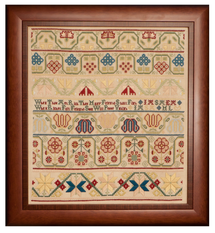 When Thou Art Rich an early Quaker sampler circa 1710-1730 | Reproduction Sampler Cross Stitch Chart | Hands Across The Sea Samplers