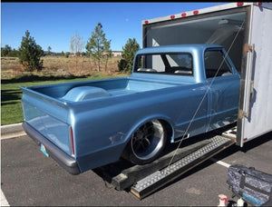 67-72 Chevy Truck Tailgate Skin W/ Pro Touring WING and Bed Caps