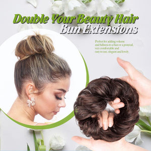 Double Your Beauty Hair Bun Extensions