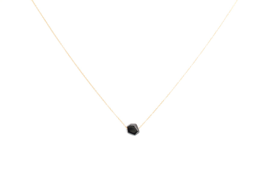 Asymmetric Onyx Necklace