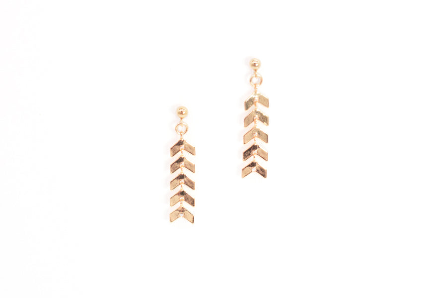 Chevron Fishtail Earrings