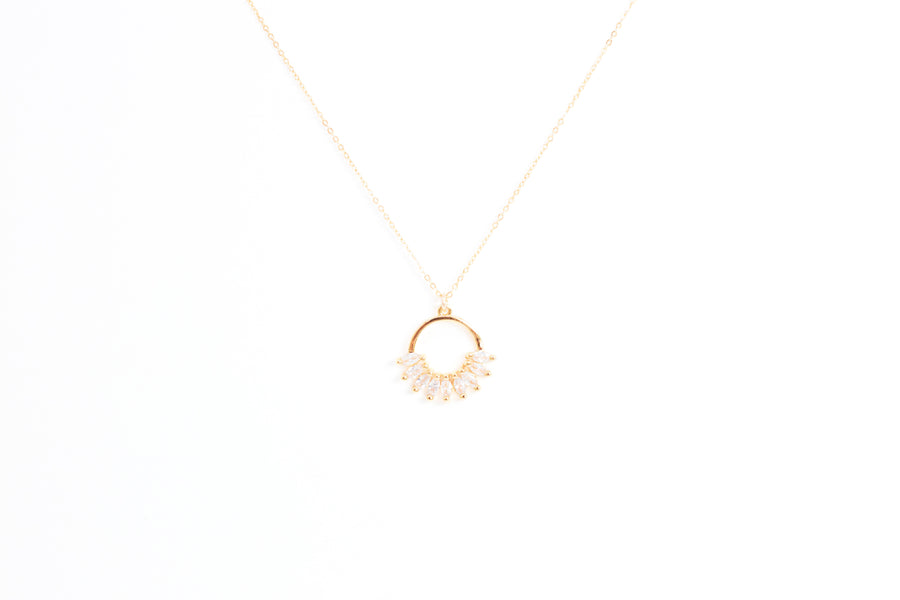 Gold Crown Ring Pendant