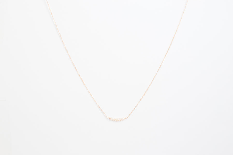 Pearl Necklace with 10 Karat Gold