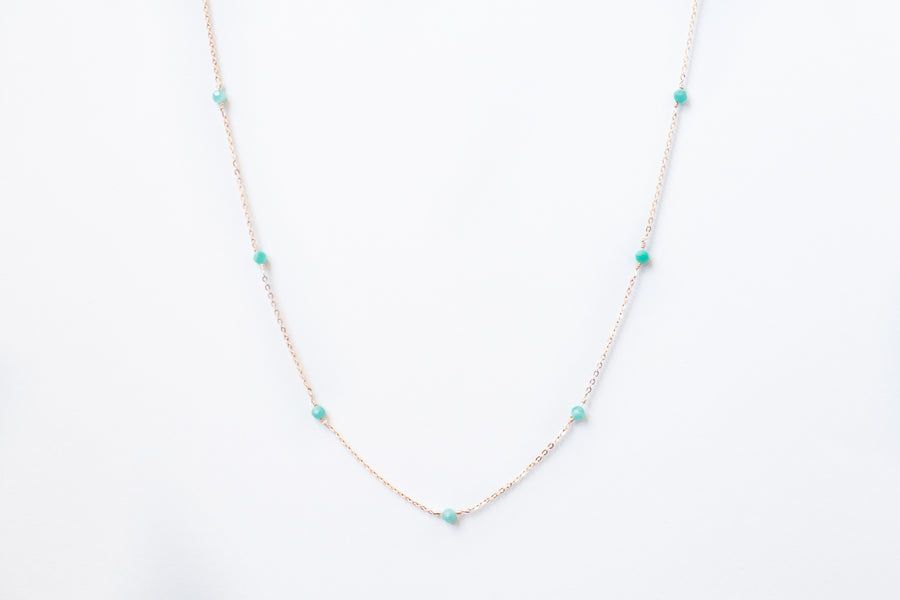 Turquoise Amazonite Satellite Necklace