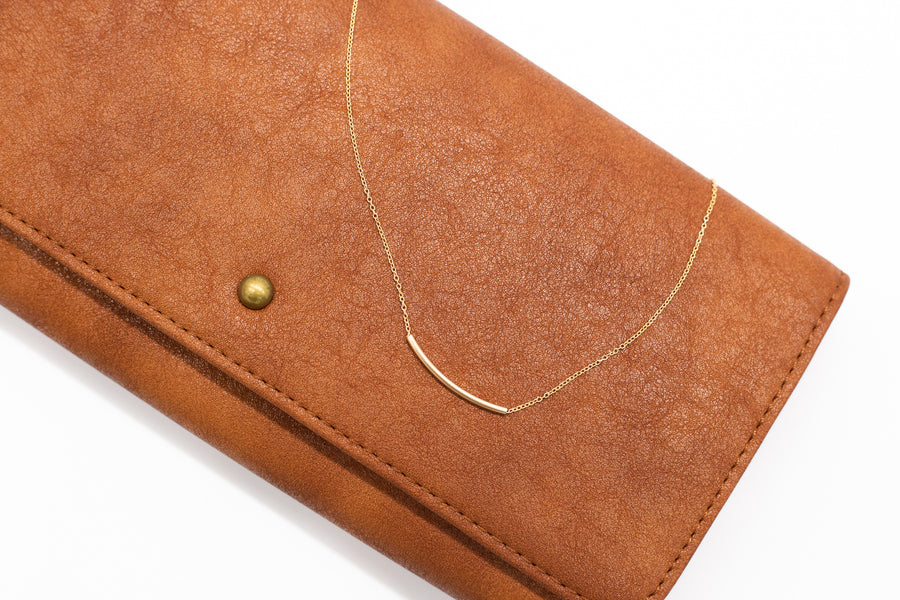 Staple Gold Bar Necklace