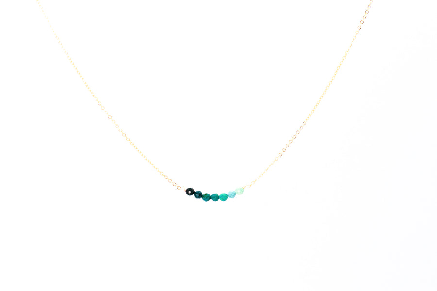 Ombré Turquoise Bar Necklace