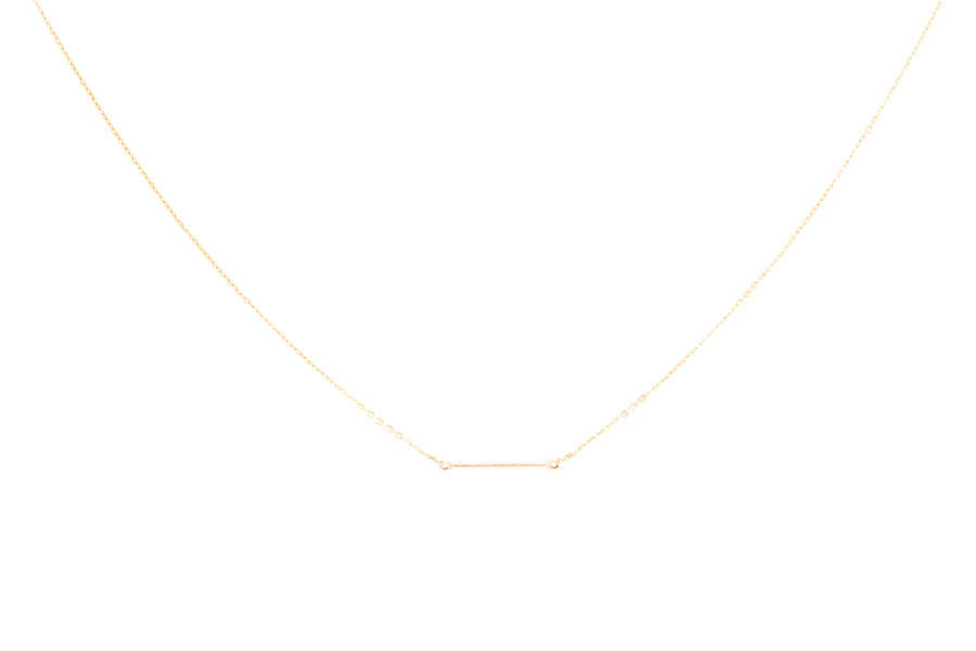 Short Gold Bar Necklace
