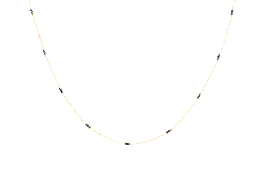 Black Diamond Satellite Necklace