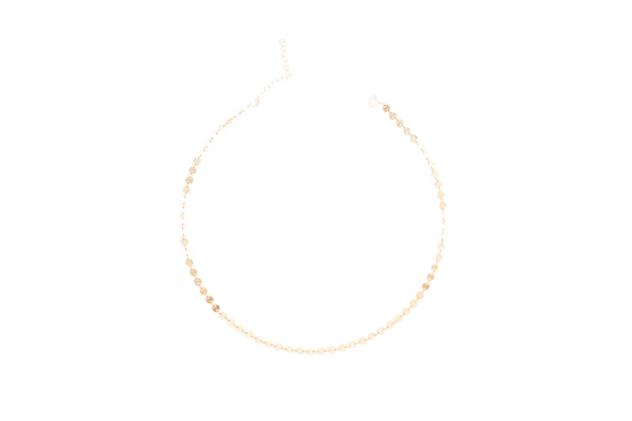 Gold Sequin Disc Choker