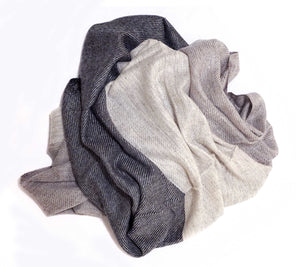 Thin cashmere wool scarf. Extremely soft feel, a perfect father's gift  - Marie-Pierre Rousseau