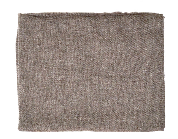 Taupe earthtone cashmere scarf. Casual unisex look - Marie-Pierre Rousseau