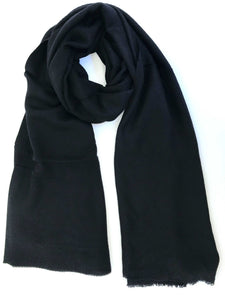 Black and black handmade chevron woven scarf. A must have - Marie-Pierre Rousseau