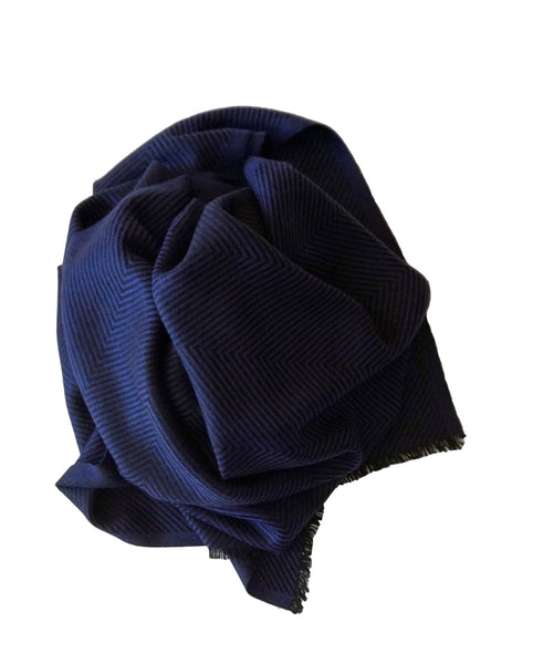 Beautiful classic man's scarf handmade in cashmere - Marie-Pierre Rousseau